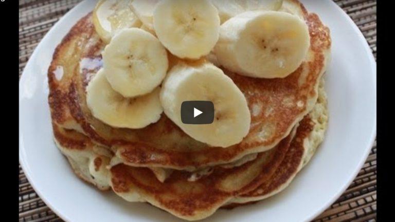 Vegan Pancakes With Bananas: Recipe Video