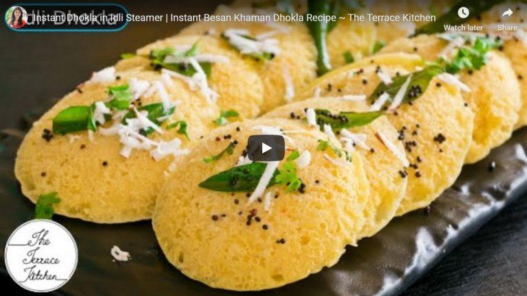 Instant Besan Dhokla In Idli Steamer: Recipe Video