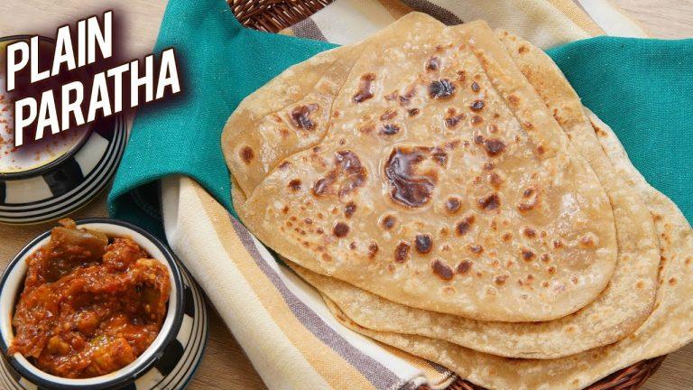 How To Make Plain Tawa (Skillet) Paratha: Recipe Video