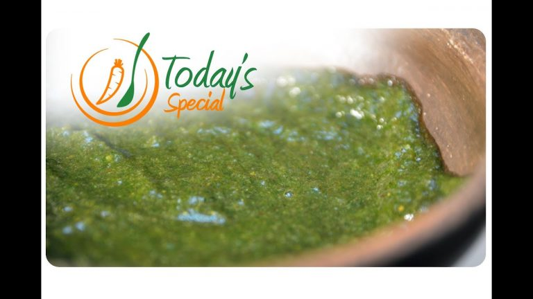 Vegan Green Chutney (Coriander Dip): Recipe Video