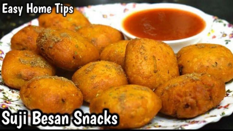 Sooji & Besan Deep Fried Vegan Snack: Recipe Video