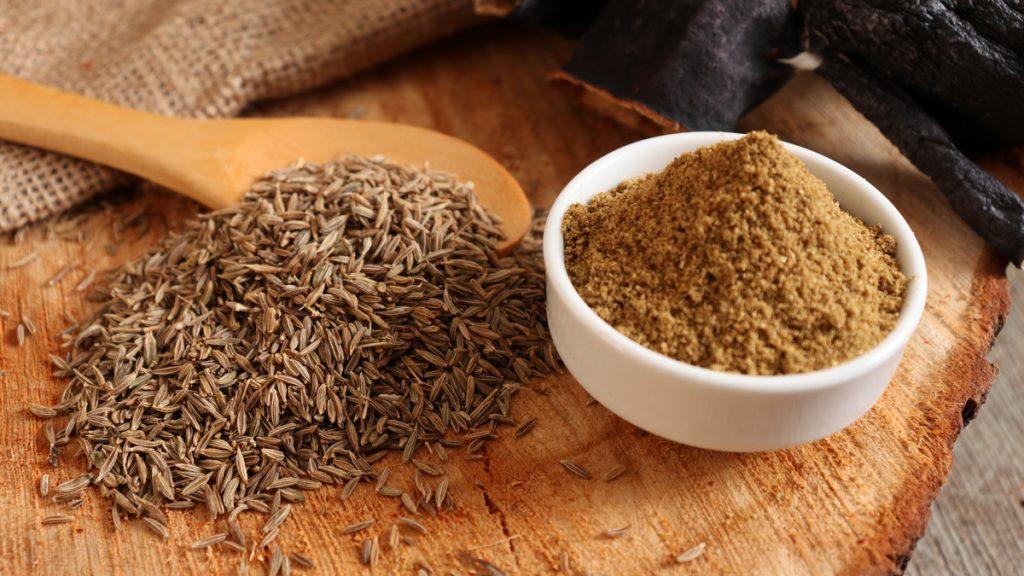 Cumin Seeds and Ground Cumin Powder