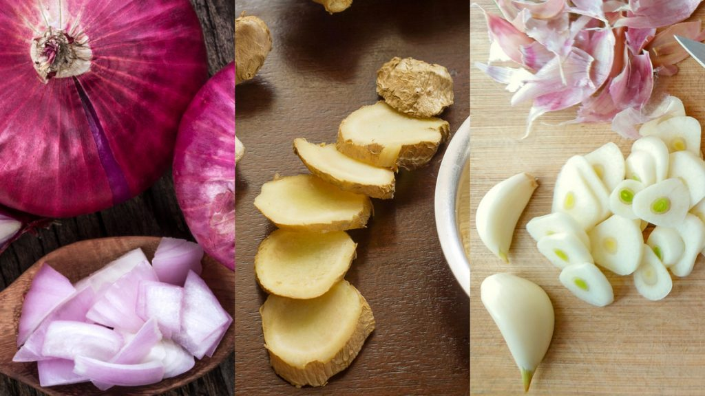 Onion, Ginger, & Garlic For Indian Cooking