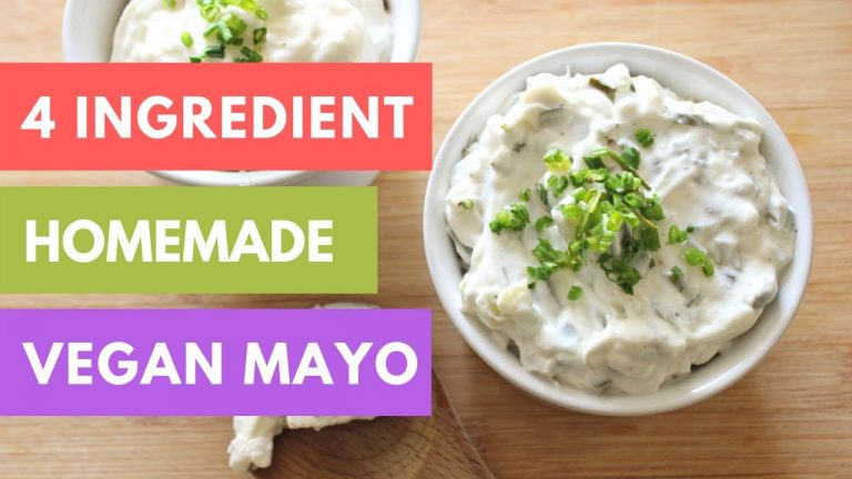 How To Make Plain And Flavored Vegan Mayo: Recipe Video